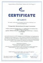 Certificate of safety Kup 3, získej 4! Sada. Doplněk stravy - Trimegavitals. Siberian linseed oil and omega-3 concentrate