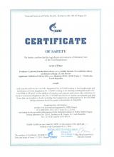 Certificate of safety Doplněk stravy - Fitness Catalyst. Active Fiber, 120 kapslí