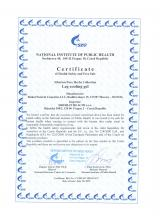 Certificate of safety Siberian Pure Herbs Collection. Chladivý gel na nohy (Led, Mulhen), 75 ml