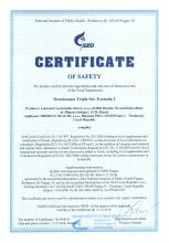 Certificate of safety<br>Renaissance Triple Set. Formula 2 Doplněk stravy - Renaissance Triple Set, 180 kapslí
