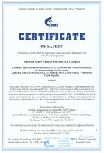 Certificate of safety<br>BCAA Complex Siberian Super Natural Sport. BCAA Complex, 120 tablet