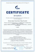 Certificate of safety<br>Mega Essential Siberian Super Natural Sport. Mega Essentials, 120 tablet