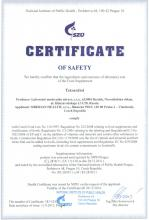 Certificate of safety SADA Kup 3, získej 4! TETRARDIOL