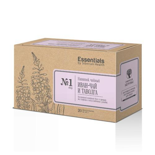 БАД Essentials by Siberian Health. Fireweed and meadowsweet, 20 пакетов 500202