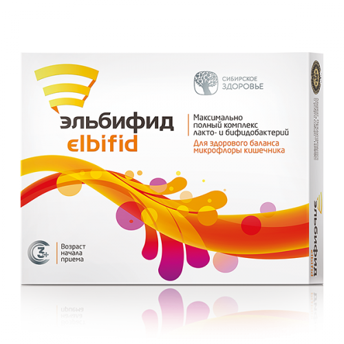 Food supplement Elbifid, 15 capsules 500107