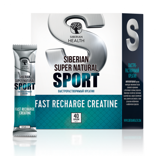 Siberian Super Natural Sport. Fast Recharge Creatine, 200 г 500370